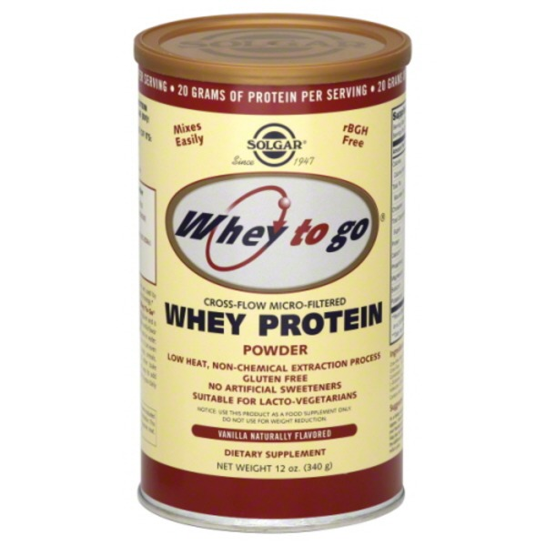 Solgar Whey To Go Whey Protein Powder Natural Vanilla (12 oz) from
