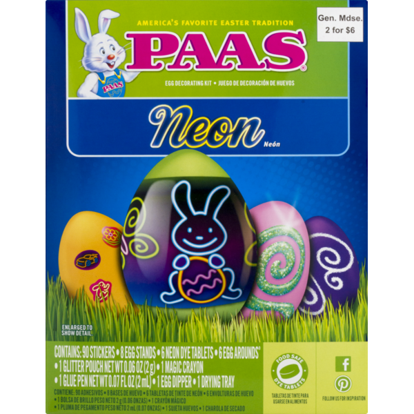 Paas Neon Egg Dye Kit from Safeway - Instacart