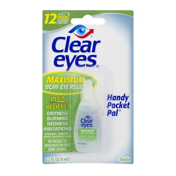 Clear Eyes Maximum Itchy Eye Relief Eye Drops (0.2 fl oz) - Instacart
