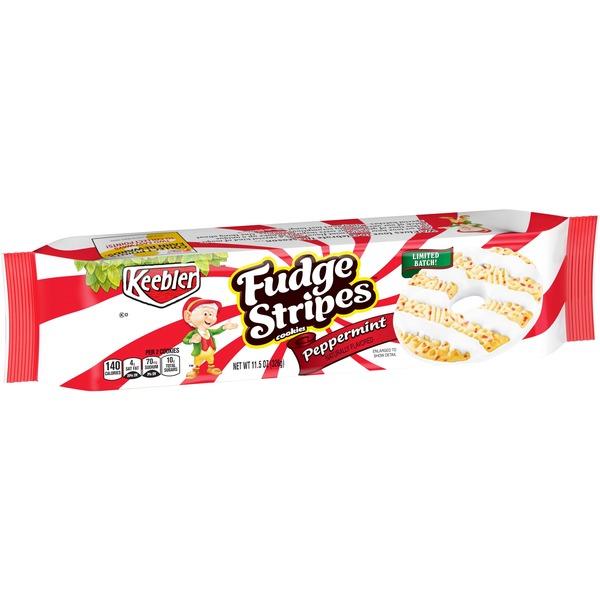 Keebler Fudge Stripes Cookies Peppermint