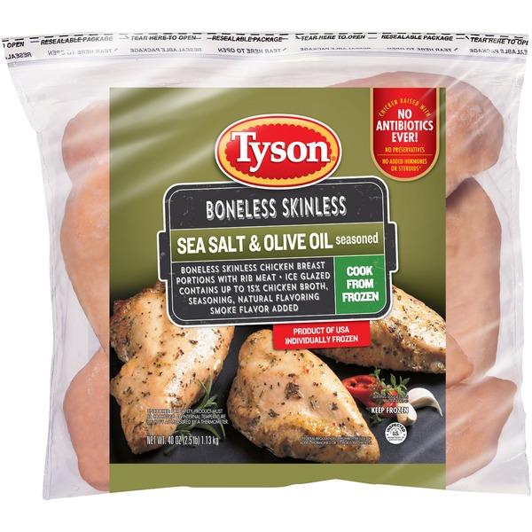 Tyson Frozen Uncooked Tyson Sea Salt Olive Oil Seasoned