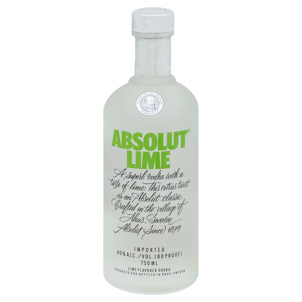Absolut Vodka Vodka, Lime Flavored (750 ml) from Publix