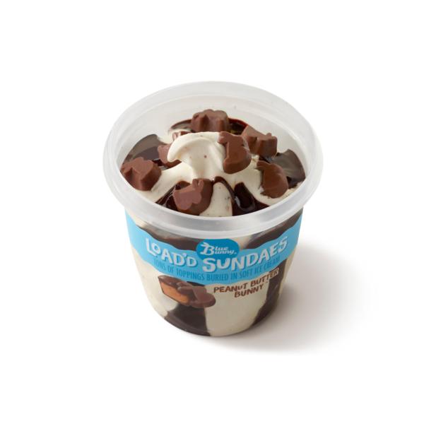Blue Bunny Loadd Sundaes Peanut Butter Bunny Ice Cream 85 Fl