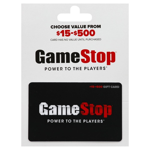 Game Stop Gift Card, $15-$500 (1 each) from Vons - Instacart