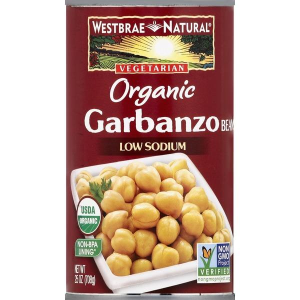 Westbrae Natural Garbanzo Beans, Low Sodium