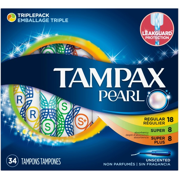 Tampax Triple Pack (Regular/Super/Super Plus), Plastic