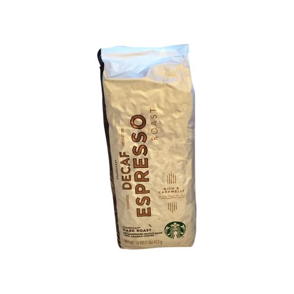Starbucks Coffee 100 Arabica Decaffeinated Whole Bean Dark Roast
