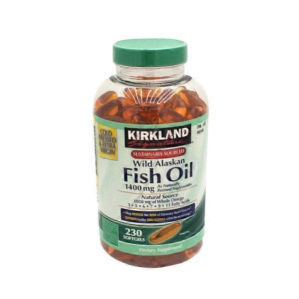 Kirkland signature wild alaskan fish oil 1400 mg 230 ct for Fish oil costco