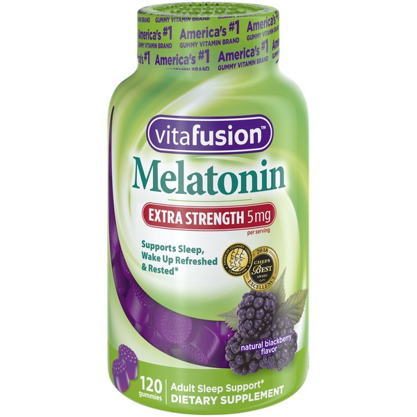 VitaFusion Extra Strength 5mg Melatonin Blackberry Adult Vitafusion Extra  Strength 5 mg Melatonin Blackberry Adult Gummies