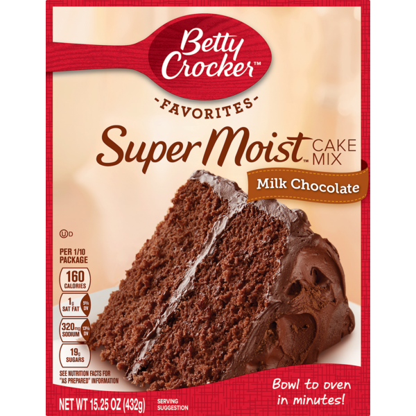 Betty Crocker Favorites Super Moist Milk Chocolate Cake Mix From