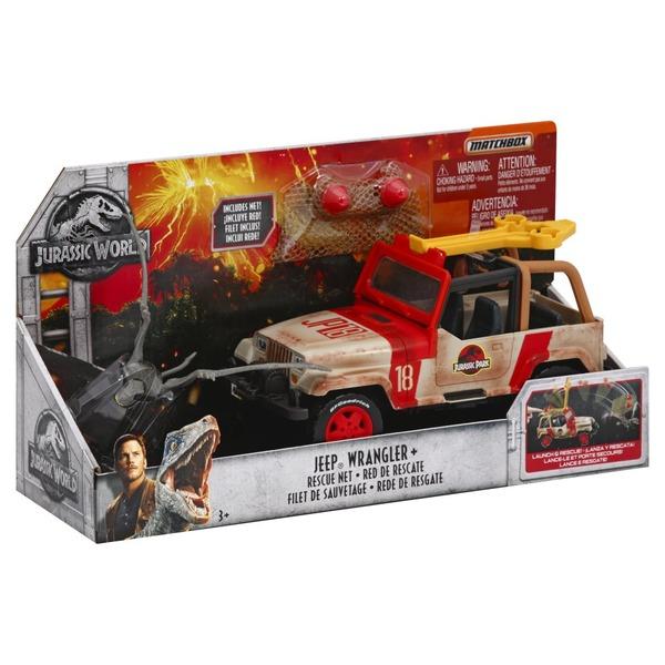 Matchbox Jurassic World Jeep Wrangler Rescue Net NEW