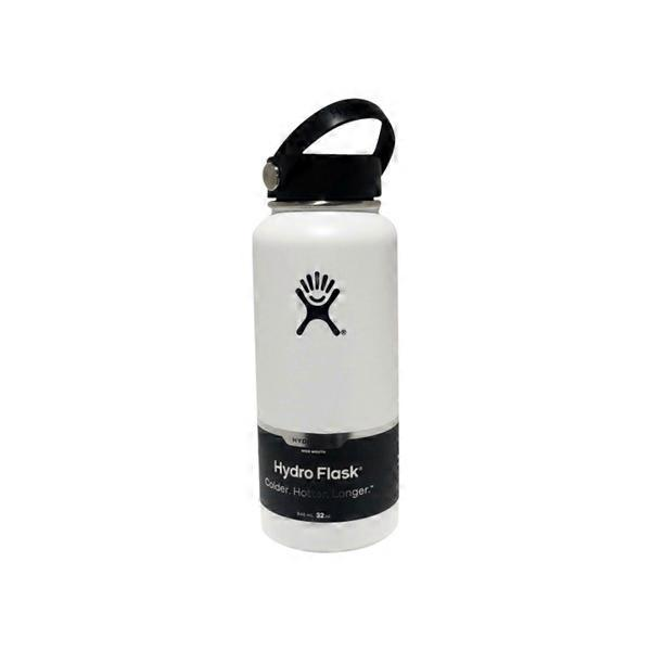 Hydro Flask White Wide Mouth Stainless Steel Flask (32 oz