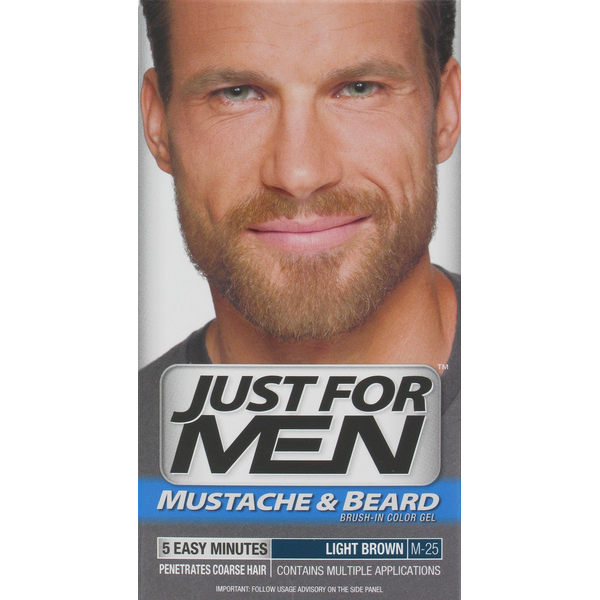 Just For Men Mustache & Beard Brush-In Color Gel Application Kit ...