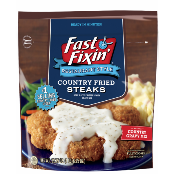Fast Fixin Restaurant Style Country Fried Steak With Gravy