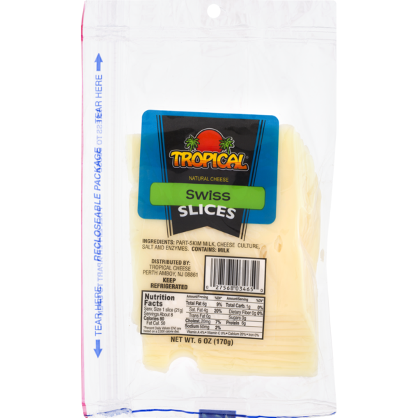 Tropical Natural Cheese Swiss Slices (6 oz) from Stop & Shop