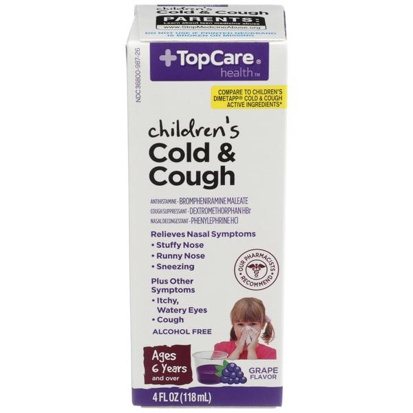 Topcare Children S Cold Cough Alcohol Free Grape 4 Fl Oz