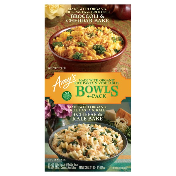Amy\'s Kitchen 3 Cheese Kale Broccoli Cheddar Bake Bowl (4 ct) from ...