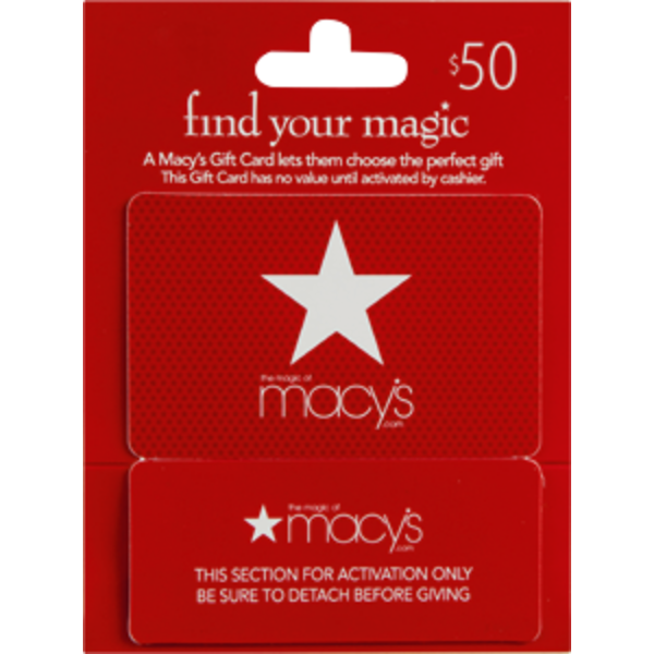 Macy S 50 Gift Card 1 Ct From Giant Food Instacart