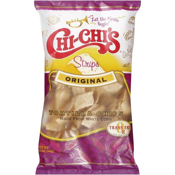 Chi-chi's Chips & Tortillas Strips Original White Corn Flour Tortilla Chips