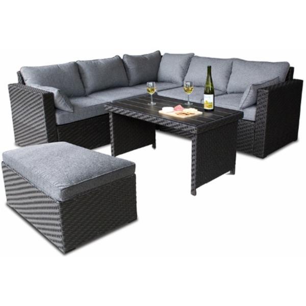 Magnificent Hd Designs Outdoors 6 Piece Black Gray Murano Wicker Customarchery Wood Chair Design Ideas Customarcherynet