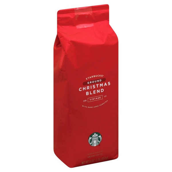 starbucks coffee ground dark roast christmas blend vintage 2017