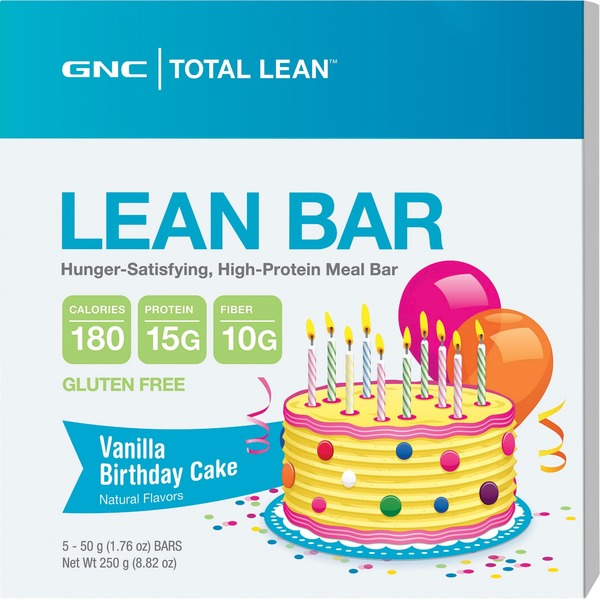 GNC Lean Bar Vanilla Birthday Cake