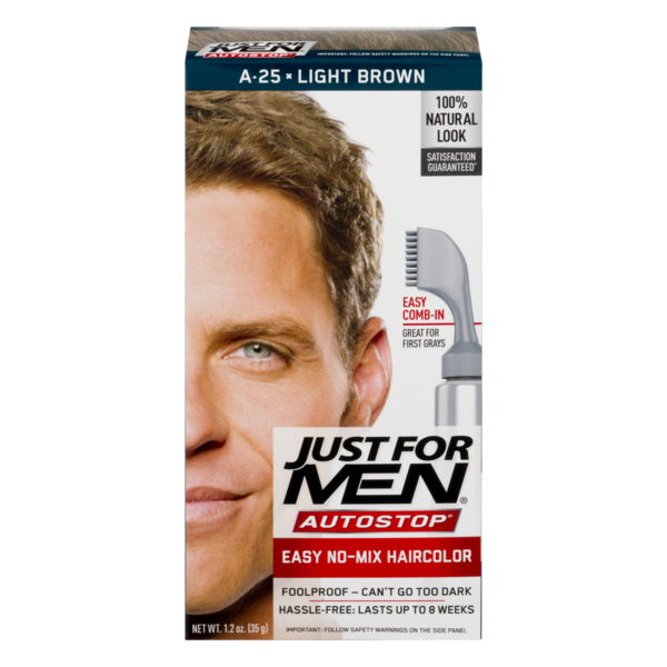 d13775264ed Just For Men AutoStop Easy No-Mix Hair Color A-25 Light Brown from ...