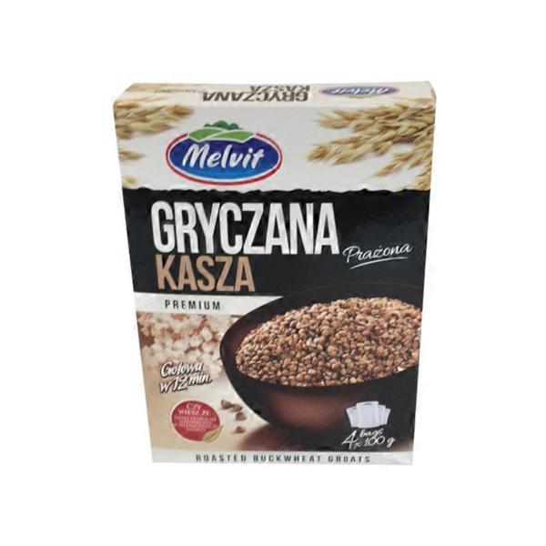 Melvit Roasted Buckwheat Groats Kasza Gryczna Prazona (3 5 oz