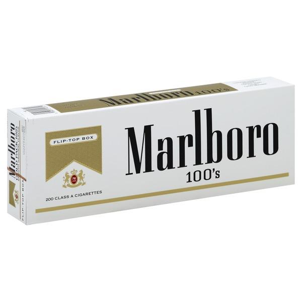 Marlboro Cigarettes Gold Pack 100 S Flip Top Box From Safeway
