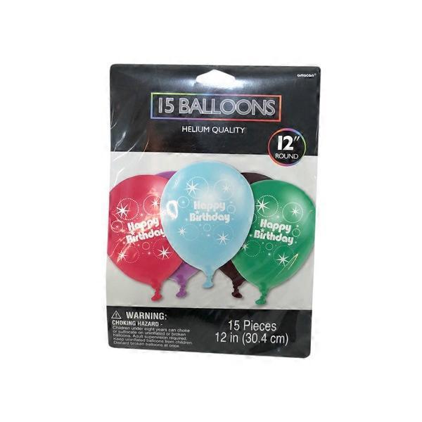 Safeway Amscan Happy Birthday Helium Quality Balloons