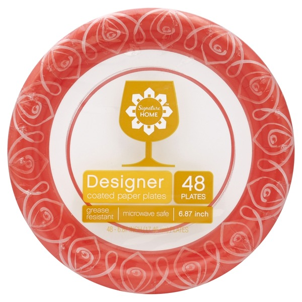 Signature Home Designer Coated Paper Plates  sc 1 st  Instacart & Signature Home Designer Coated Paper Plates from Randalls - Instacart