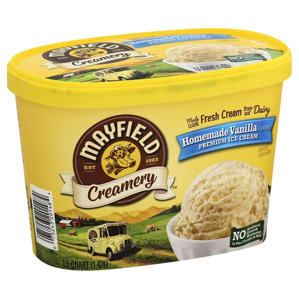 Mayfield Homemade Vanilla Ice Cream Tub From Food Lion