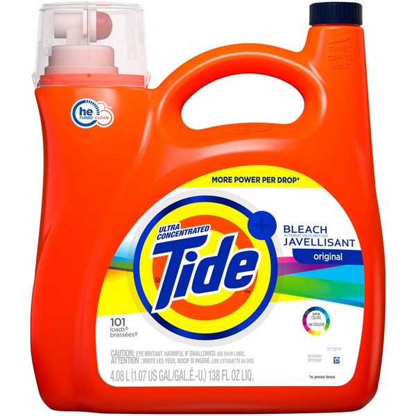 Tide Ultra Concentrated Liquid Laundry Detergent with Bleach