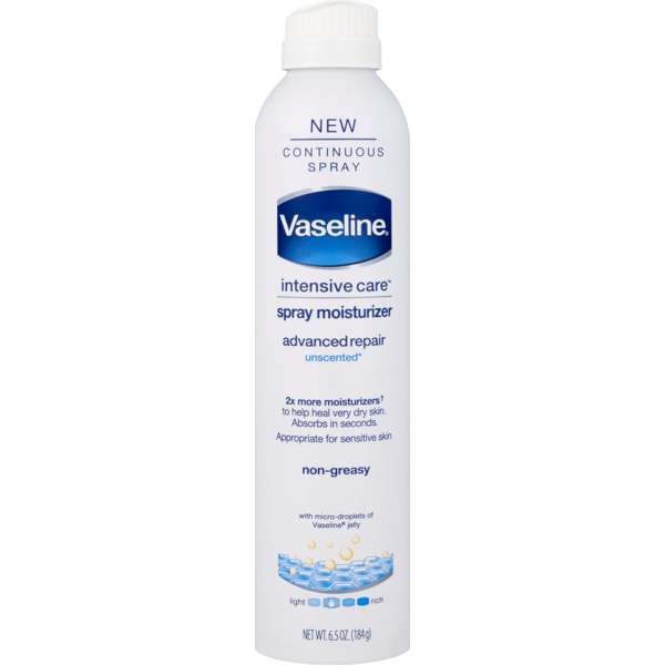 Vaseline Spray Lotion Advanced Repair Unscented From Big Y World