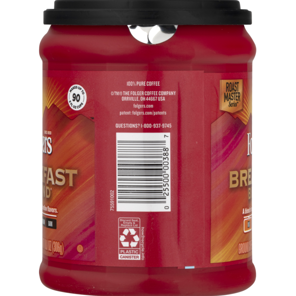Folgers Coffee Nutrition Label