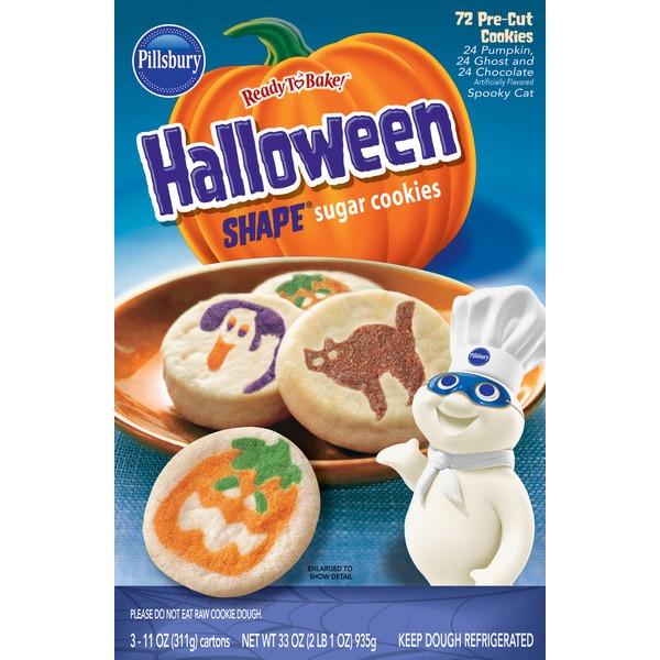pillsbury halloween shaped sugar cookies 11 oz from bjs wholesale club instacart