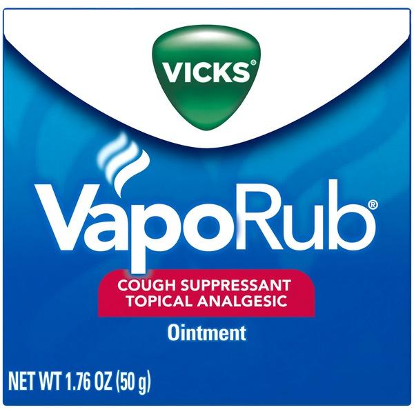 Vicks VapoRub Topical Analgesic Ointment Cough Suppressant