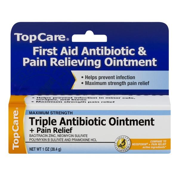 TopCare Triple Antibiotic Ointment + Pain Relief Maximum