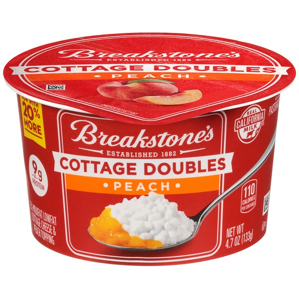 Breakstones Cottage Doubles Peach Cheese Topping