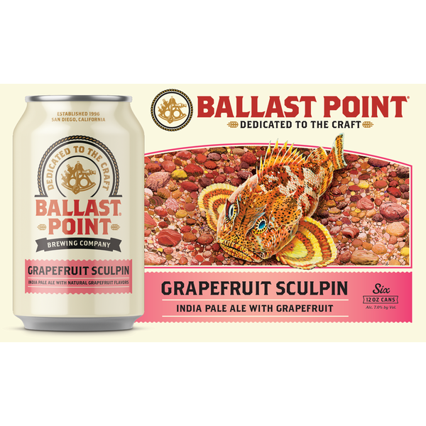 Ballast Point Sculpin Grapefruit IPA Beer Cans (12 oz) from