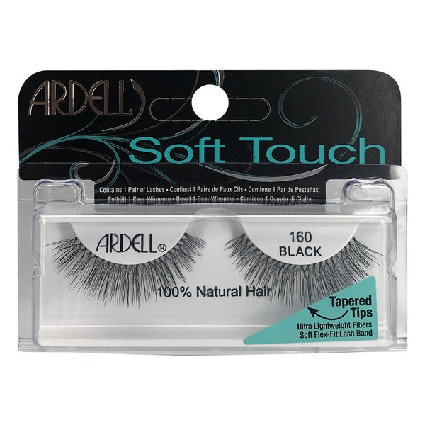 8ab0a167a73 Ardell Soft Touch Lashes 100% Natural Hair 160 Black (1 PR) from ...
