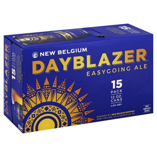 New Belgium Brewing Ale, Easygoing, Dayblazer, 15 Pack (15