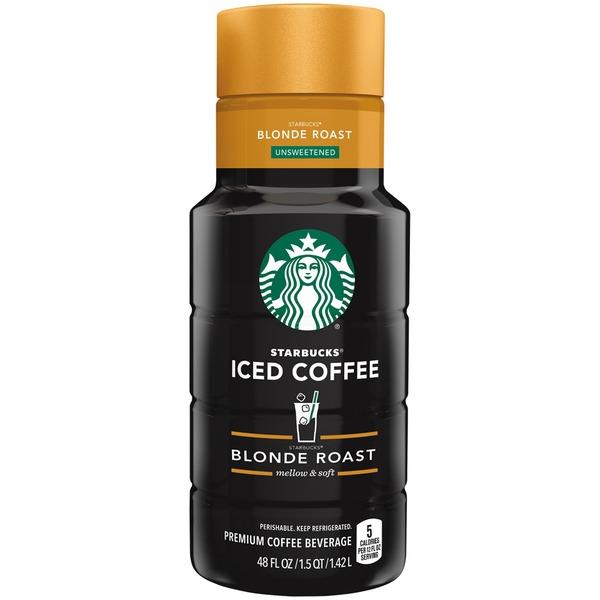 Starbucks Iced Coffee Unsweetened Blonde Roast Iced Coffee