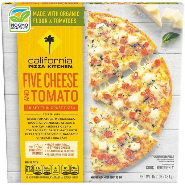 California Pizza Kitchen Crispy Thin Crust Five Cheese and Tomato ...