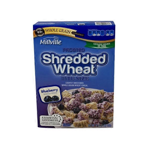 Millville Blueberry Frosted Shredded Wheat Breakfast