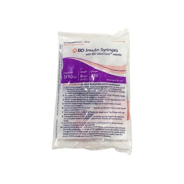 Becton & Dickinson 328438 Ultra-Fine II Insulin Syringes (10