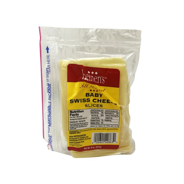 Heinen's Swiss Cheese Silces (8 oz) from Heinen's - Instacart