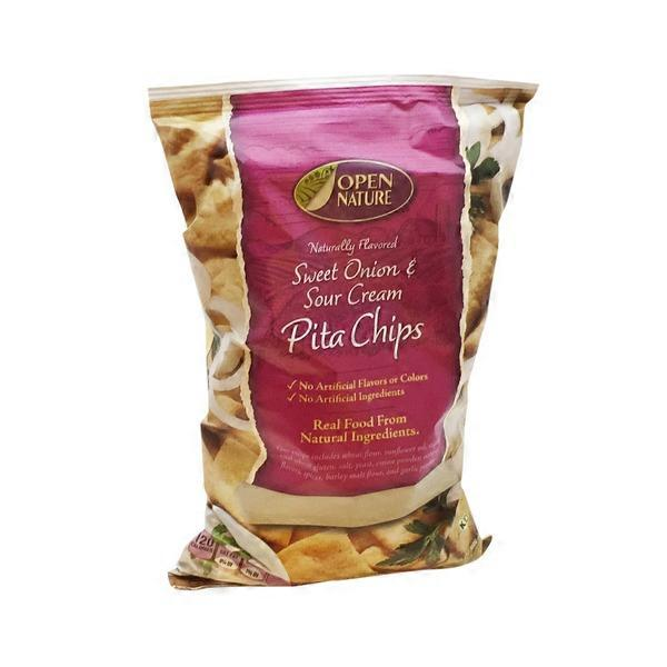 Open Nature Sour Cream And Onion Pita Chips from Vons