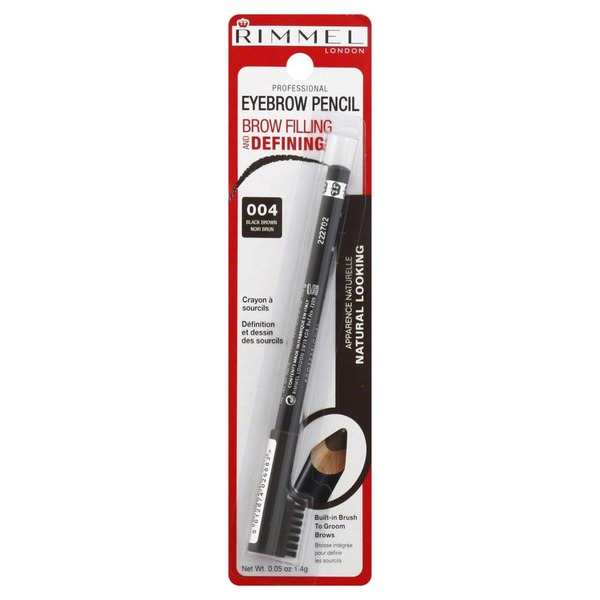 Rimmel Eyebrow Pencil Professional Black Brown 004 005 Oz From