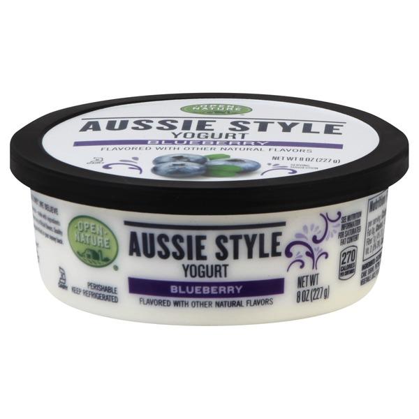 Open Nature Yogurt, Aussie Style, Blueberry Flavored (8 oz